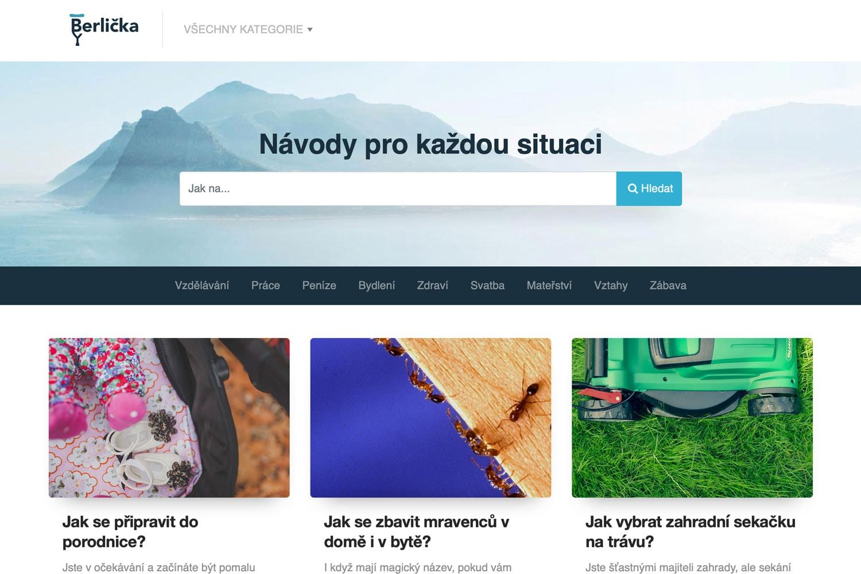 Náhled webu Berlička