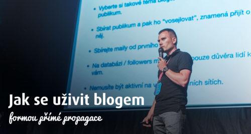 Jak se uživit blogem formou přímé propagace obrázek