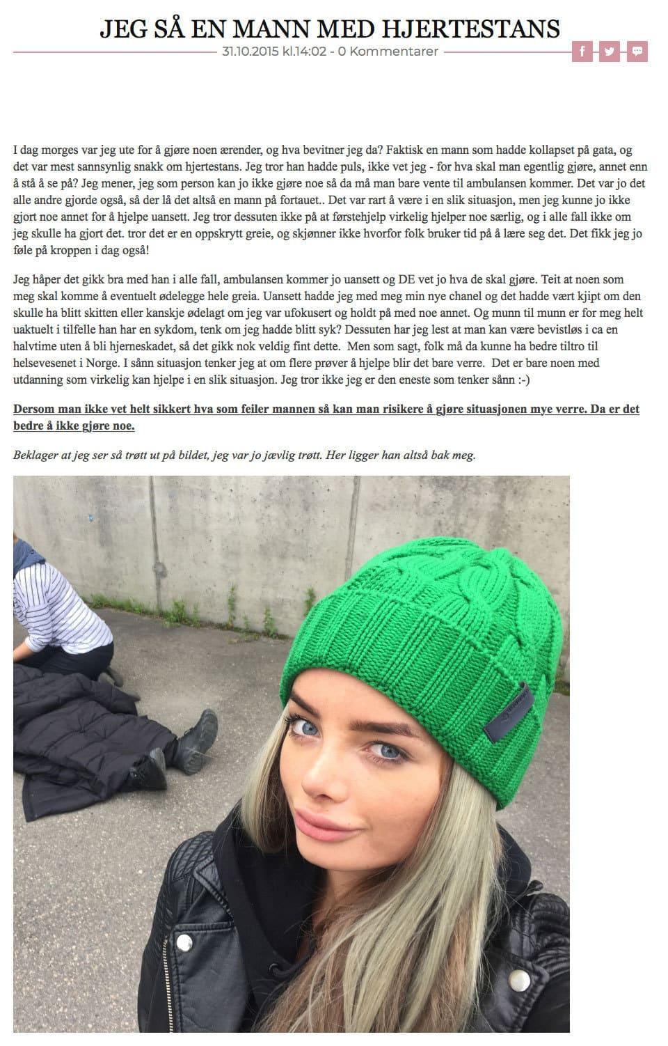 Sophie Elise blog článek selfie